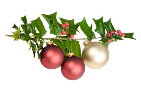 butcher broom with christmas red and gold decorations isolated stock photo 62373116 - Christmas Broom Decoration