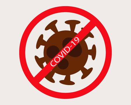 Stop COVID-19 outbreak crisis in cartoon vector style for your design.