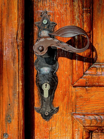door handle: Old antique door handle