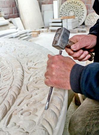 cutter: Stone cutter at work