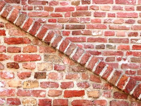 diagonal of old bricks wall 版權商用圖片