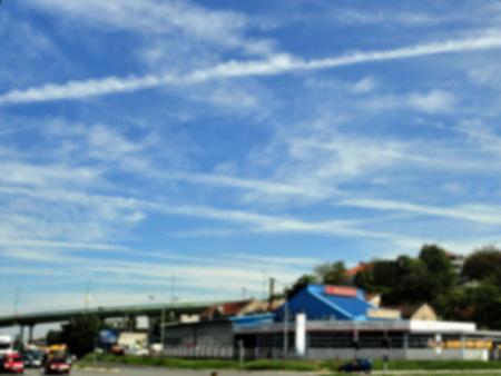 Chemtrails on blue sky,blur Stock fotó