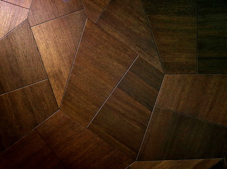 Stylish, beautiful and unusual parquet