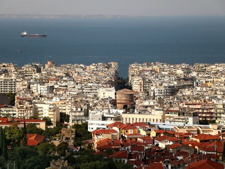 The view of Thessaloniki from the ramparts 版權商用圖片 - 134866697