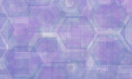 Abstract hexagon geometric colorful element of tech innovation