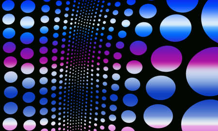 Colorful circles of different sizes on a black background