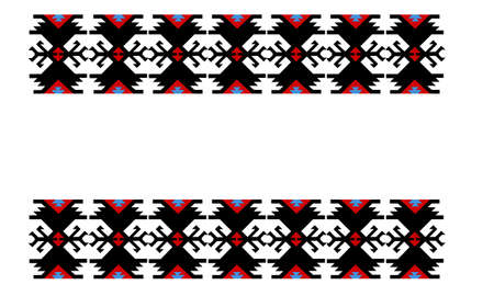 Vintage ethnic pattern, Serbian ornament, isolated on white background 版權商用圖片