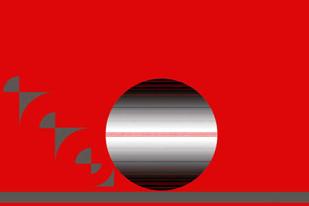 An interesting gray circle on a red background 版權商用圖片
