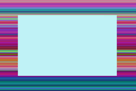 Thin lines of colorful colors as a frame and a space for entering text in the middle 版權商用圖片