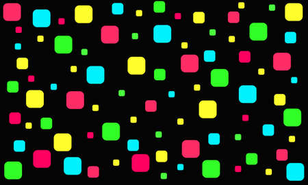 Red, green and blue squares on a black background 版權商用圖片