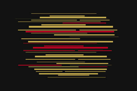 Yellow and red lines abstract technology background