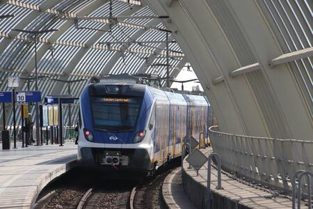 CAF Civity local commuter train at the Amsterdam Sloterdijk Railway Station in the Netherlands