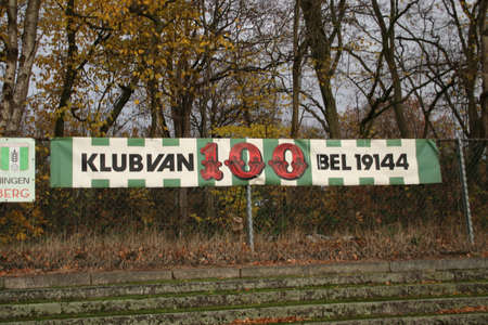 Abandoned soccer stadium in Wageningen named Wageningse Berg where FC Wageningen went bankrupt in 1992 Stock fotó - 147196023