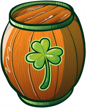 Saint Patrick s Day Barrel Beer Keg wooden made