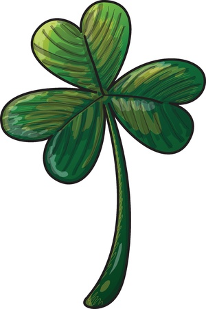 Saint Patrick s Day green three leaf shamrock clover Stock Vector - 19933359