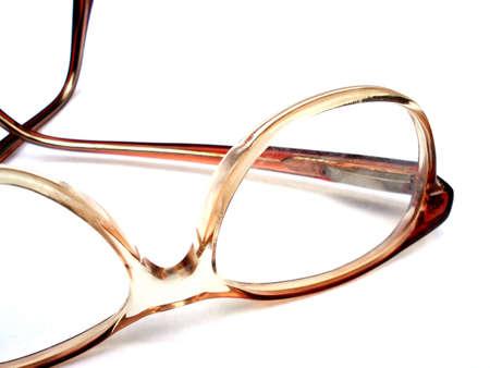 Plastic orange eye glasses isolated on white. Stock Photo - 1895984