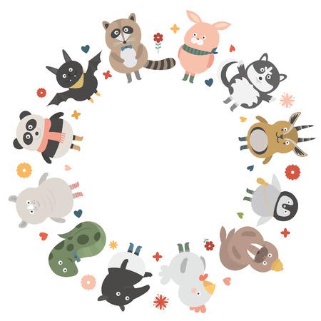 huskies: animal circleblank Illustration