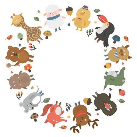 animal: animal circleblank Stock Illustratie