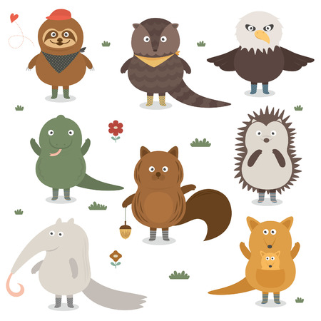 lagartija: icono de animal  Vectores
