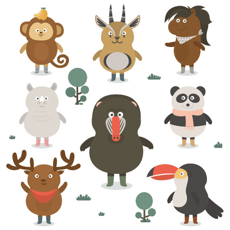 mandrill: animal icon Illustration