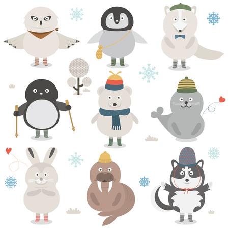 huskies: icono de animal  Vectores