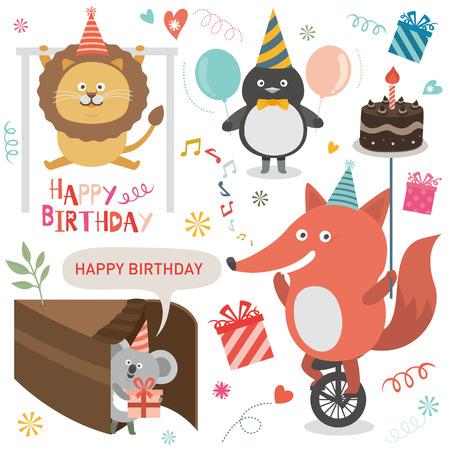 gateau anniversaire: Anniversaire icône du parti Illustration