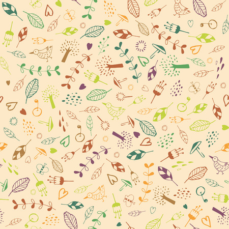 Seamless plants pattern. Stok Fotoğraf - 61053973