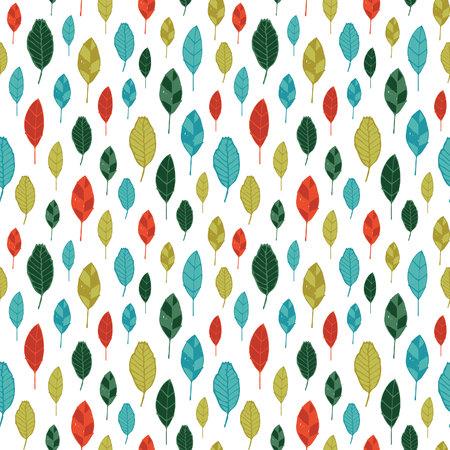 Seamless stylized leaf pattern