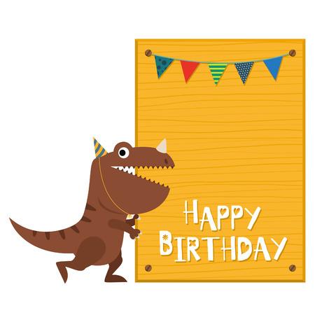 恐竜の招待カード