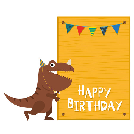 dinosaur invitation card Stok Fotoğraf - 61054403