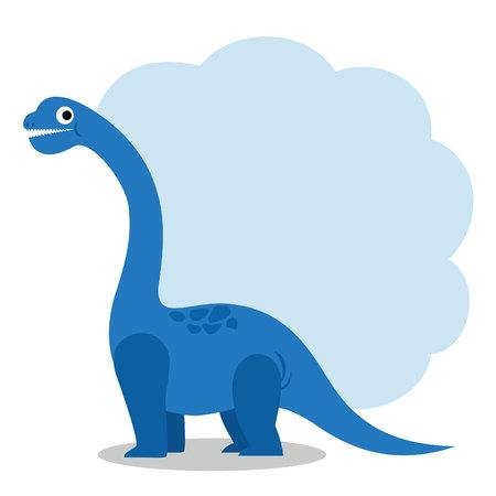 かわいい恐竜とダイアログ ボックス  イラスト・ベクター素材