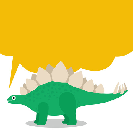 かわいいステゴサウルスとダイアログ ボックス