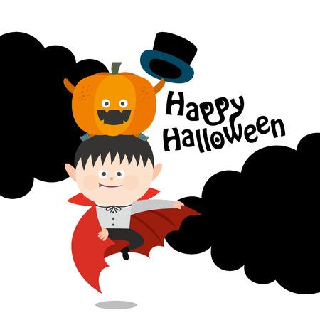 Cartoon Dracula Vampire.vector illustration Çizim