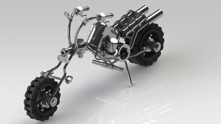 playthings: Art motorcycle render images