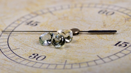 Gem(s) on a face of a clock Stock Photo - 10752360