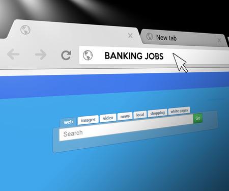 web search: Banking Jobs - Web Search Bar