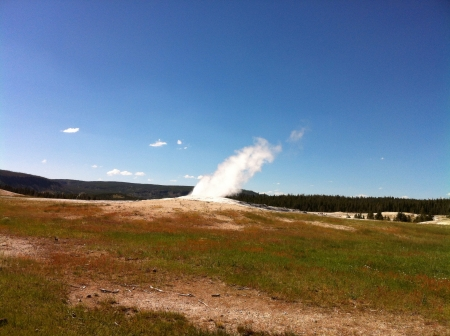 Old faithful geyser 版權商用圖片