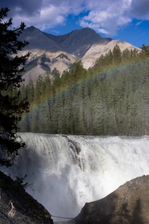 Rainbow at Wapta Falls