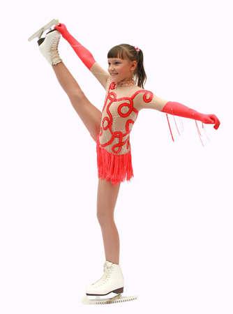 Figure skater over white background