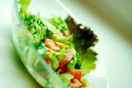 Salad on a plate Stock Photo