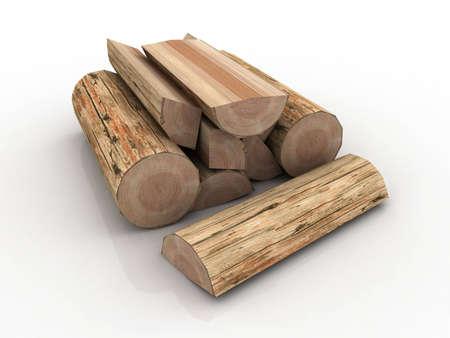 Boomstammen, brandhout