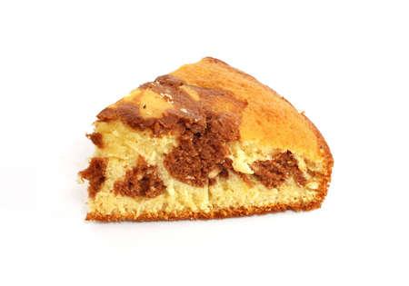 Piece of zebra cake (pie)