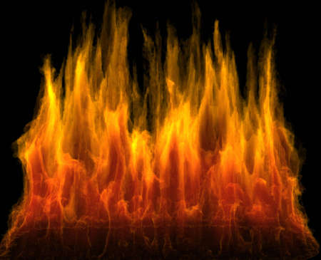 deign: Fire as deign element with alpha channel and matte for transparency