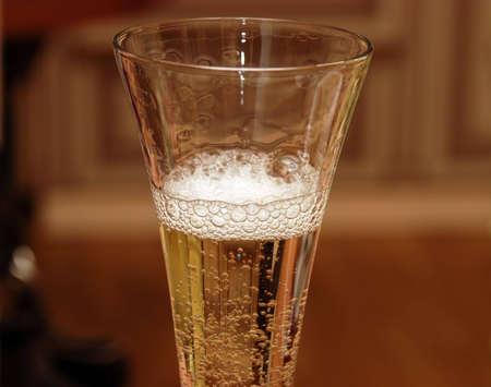 Beautiful champagne glass