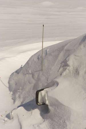 Car under snowdrift Stock Photo