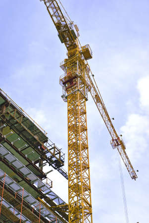 Building and construction crane with sky on background Stock Photo