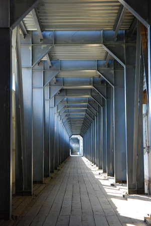 Endless tunnel with light