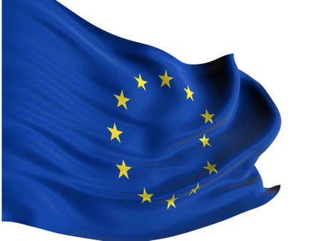 EU flag of united Europe isolated Stock Photo