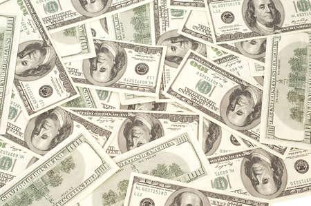 Texture of many Dollars on white background Stock Photo