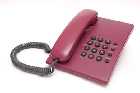 Traditional office red phone isolated on white background Stock Photo - 4224761